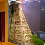 аквариум в стене между комнатами