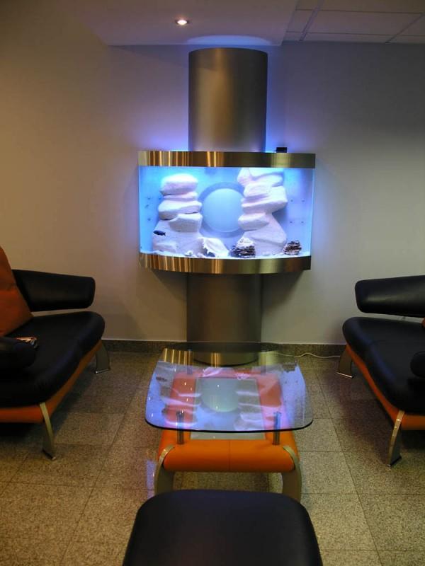 Эксклюзивный аквариум – с выгнутым фасадом